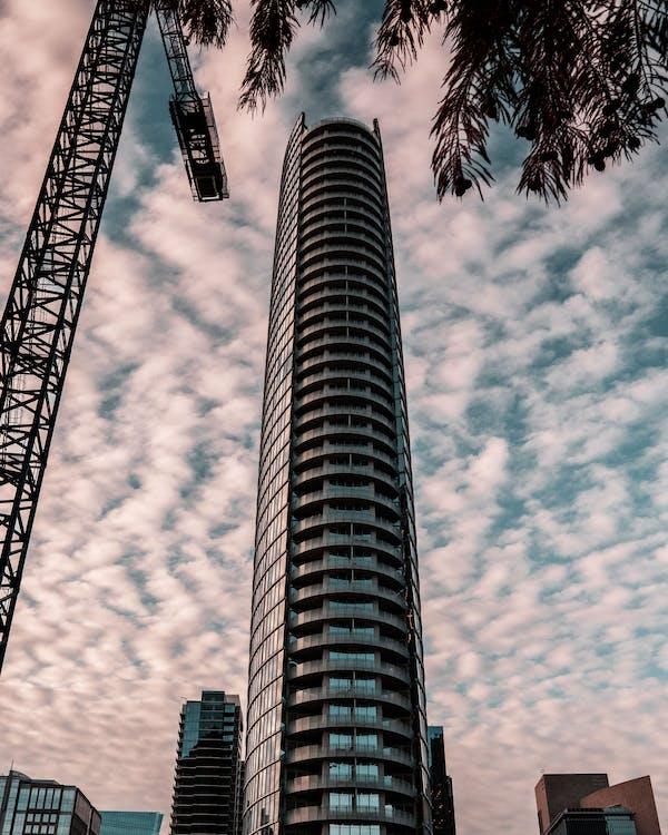 arkitektur, bygning, høyblokk