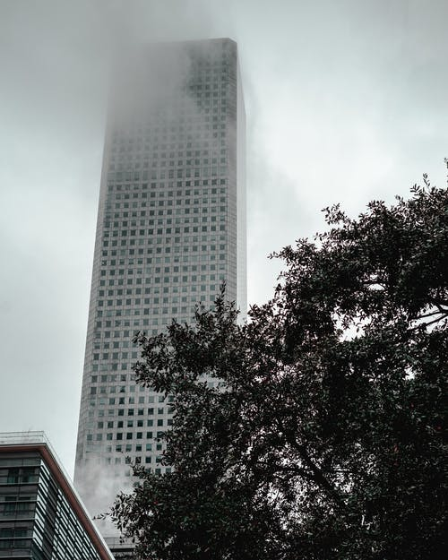 Tower Covered With Fog
