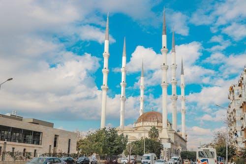 bina, cami, görülecek yer, kuleler içeren Ücretsiz stok fotoğraf