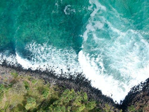 Základová fotografie zdarma na téma fingální hlavou, letecký snímek, mávání, moře