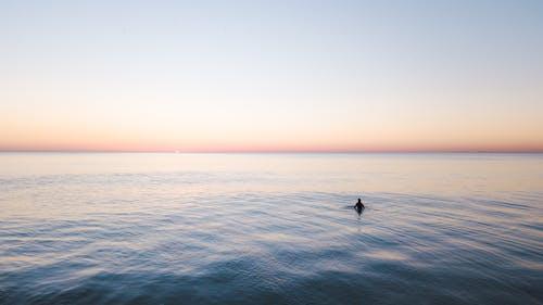 Kostnadsfri bild av gyllene timmen, hav, havsområde, himmel