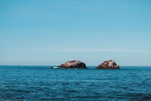 Gratis lagerfoto af blå, blå himmel, farver, hav