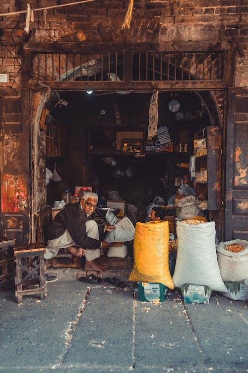 남자, 사람, 상인, 상점의 무료 스톡 사진