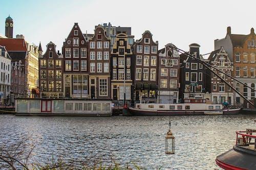 Kostenloses Stock Foto zu amsterdam, bauen, holanda, morgensonne