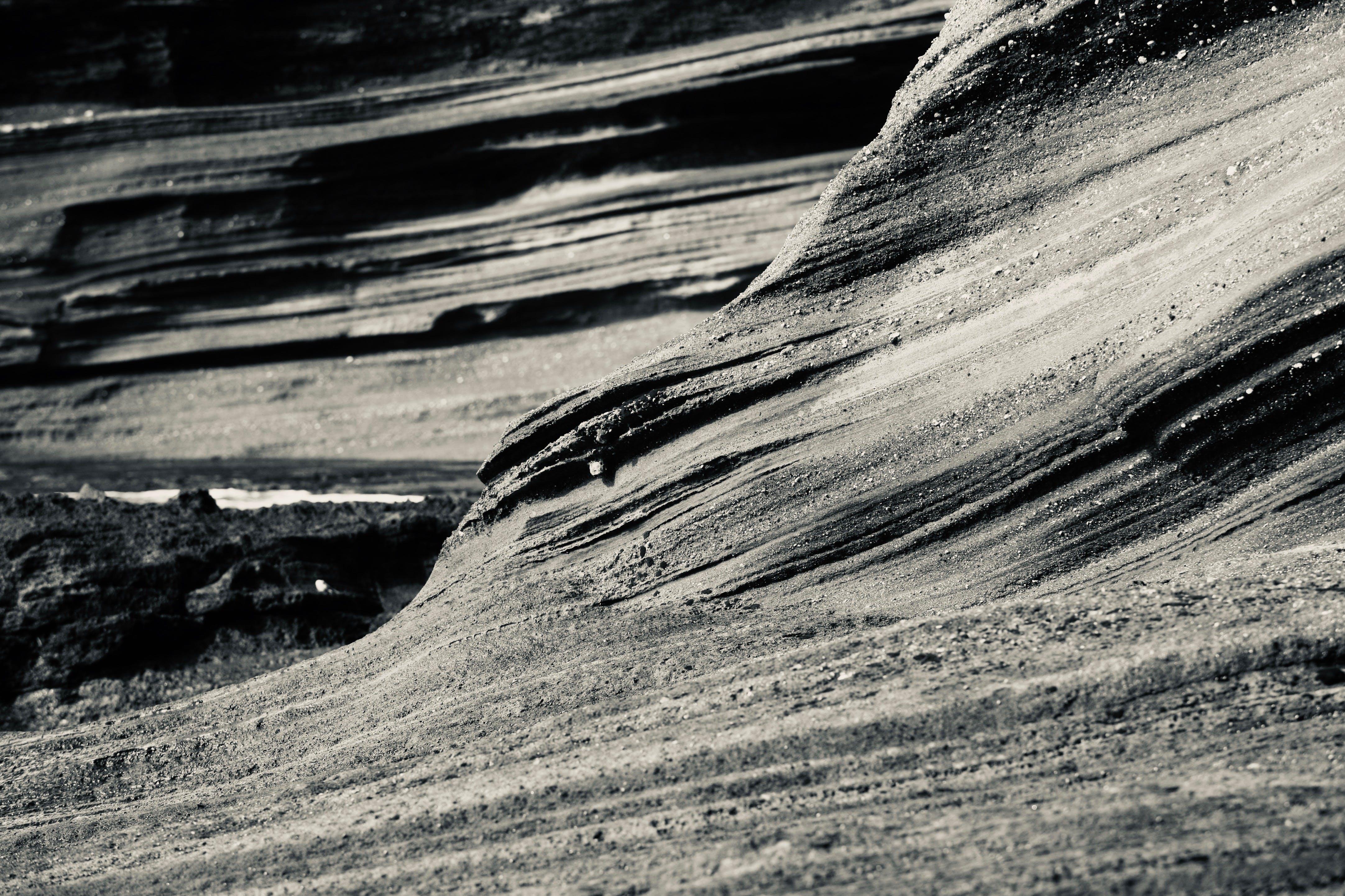Free stock photo of black and white, lava, rock, seaside