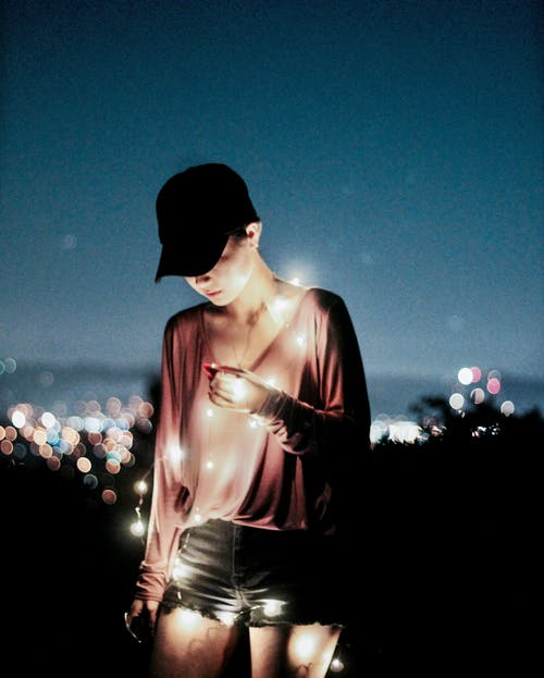 Free stock photo of city, fairy lights, lights, model