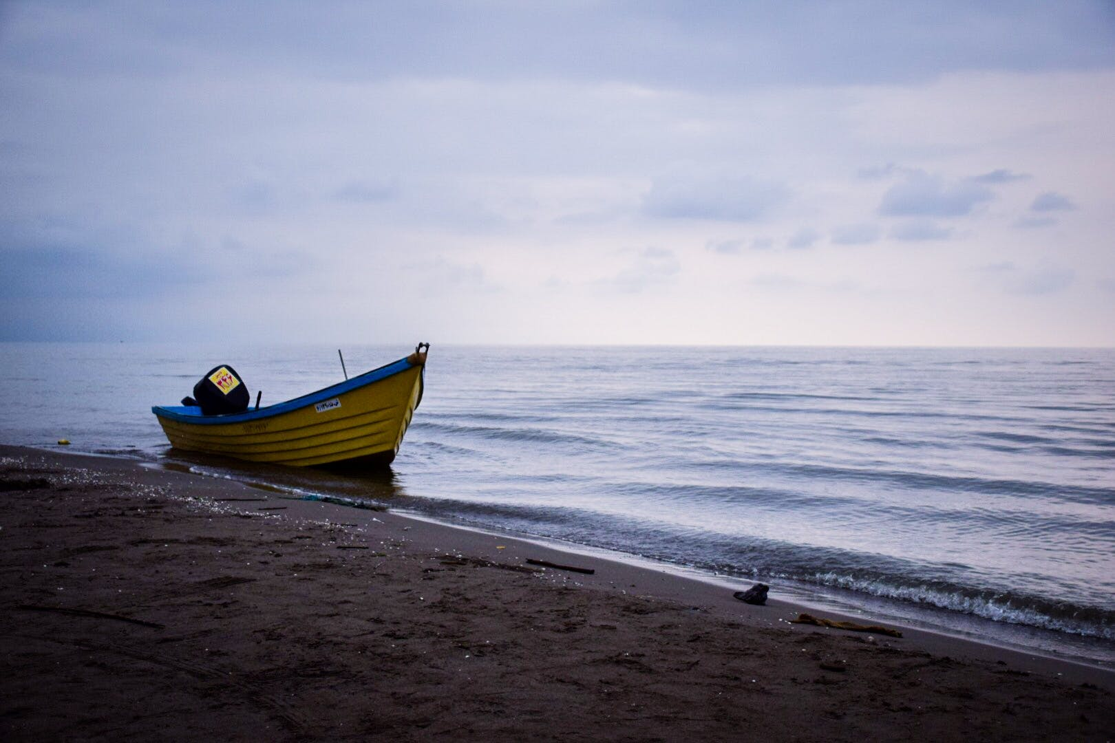 Boat Beside Beach Shore