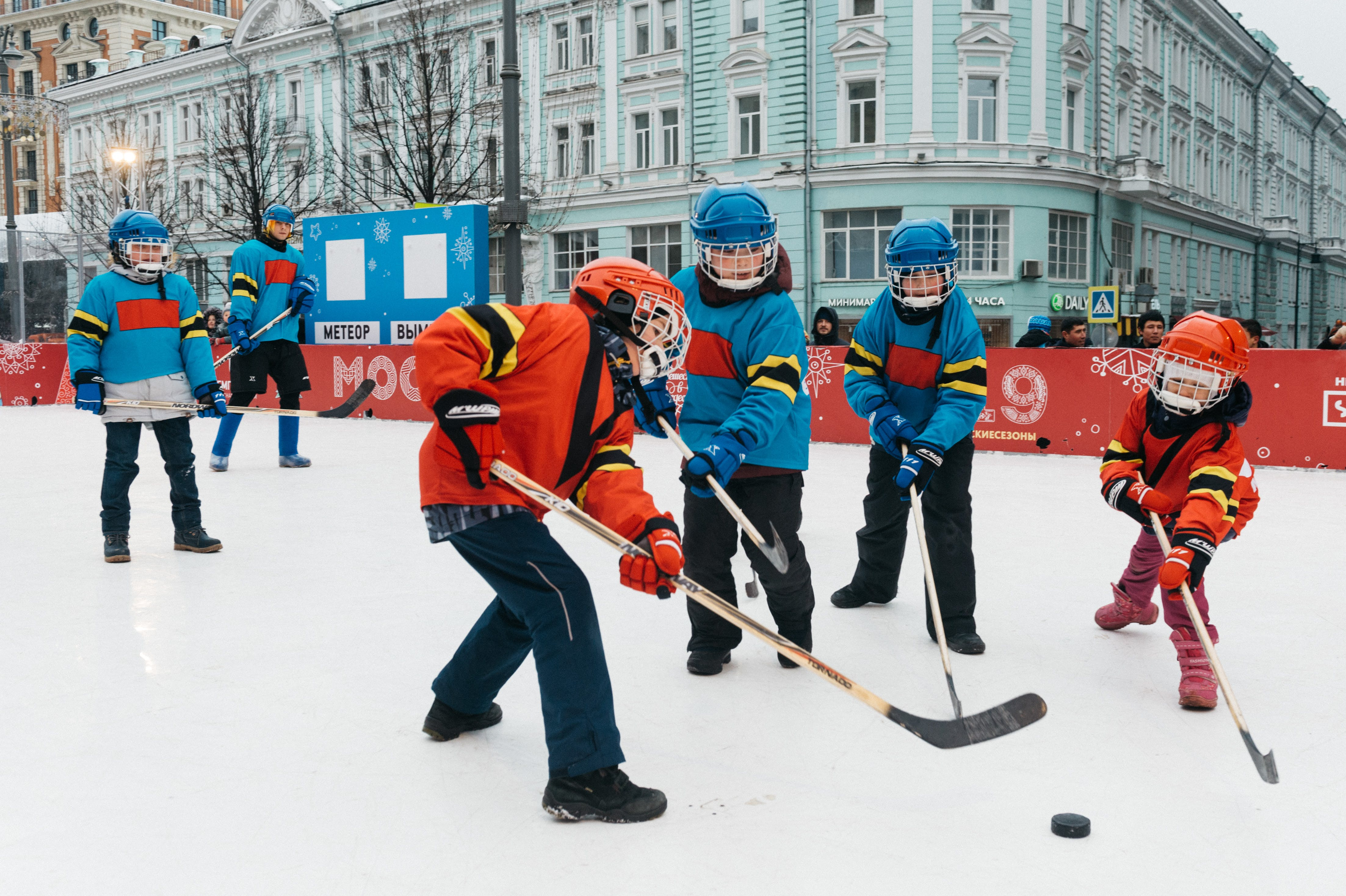 Photo of Kids Playing Hockey