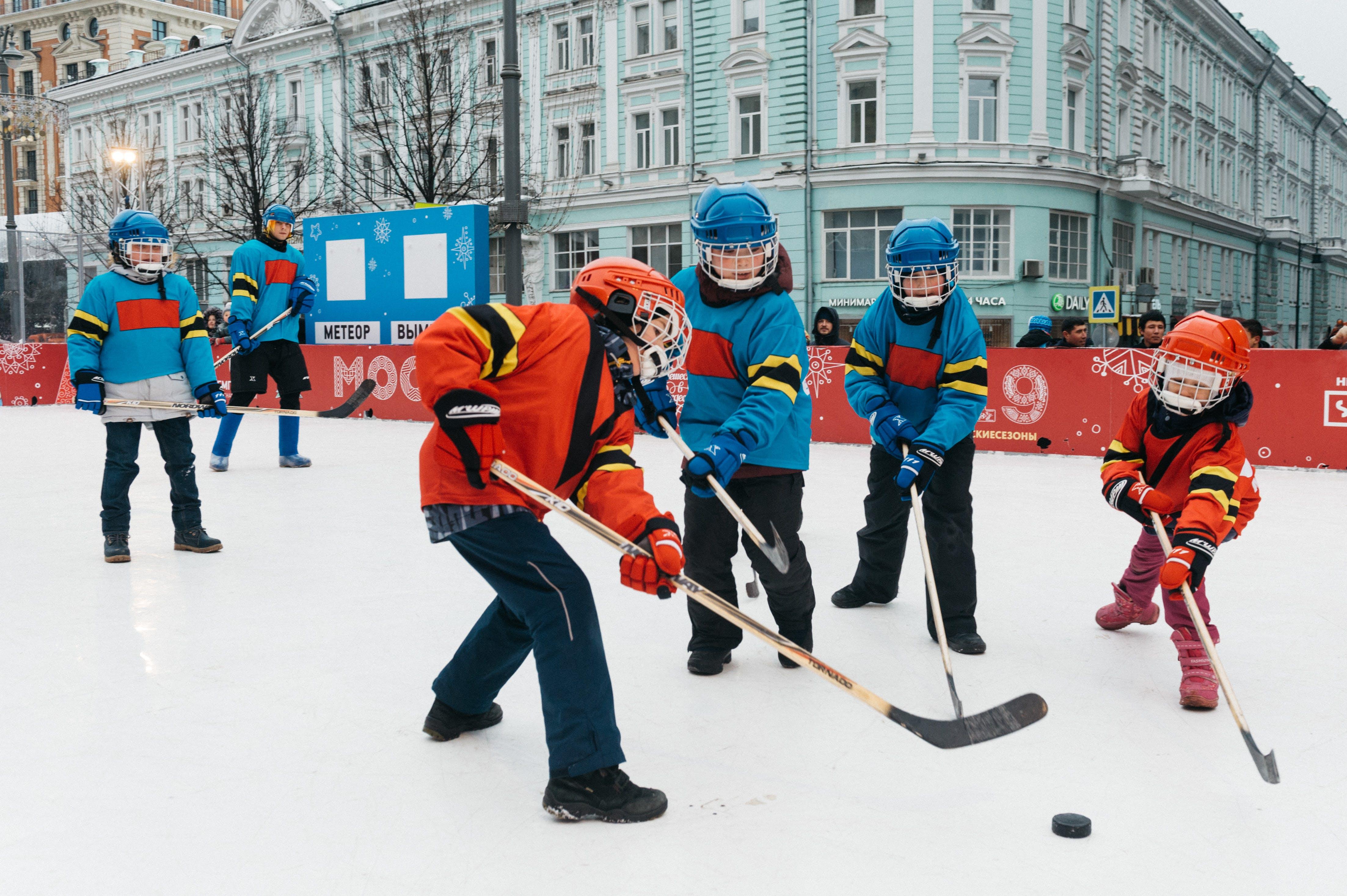 Foto stok gratis aktivitas, anak kecil, Es, game