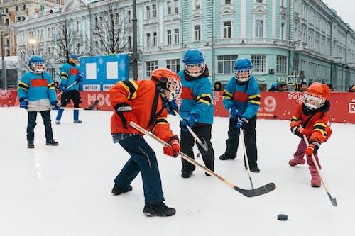Foto stok gratis aktivitas, anak kecil, anak-anak, Es