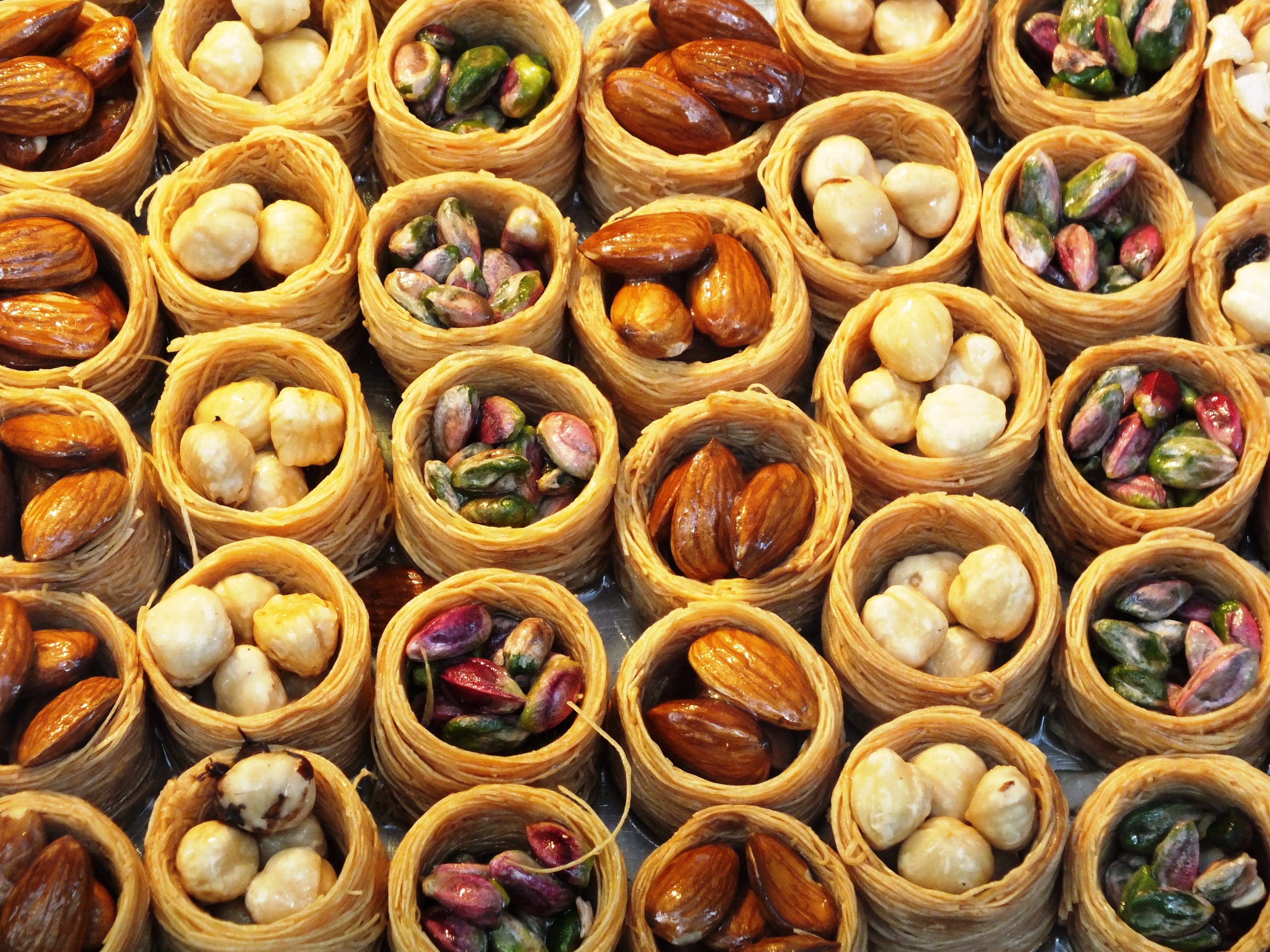 Free stock photo of antep, baklava, chestnut, chestnuts
