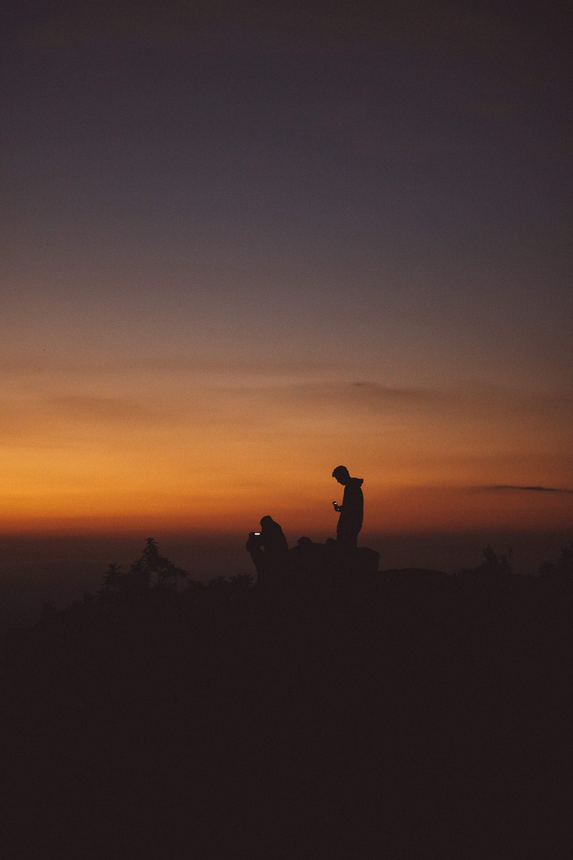 Silhouette Photography of Man Standing