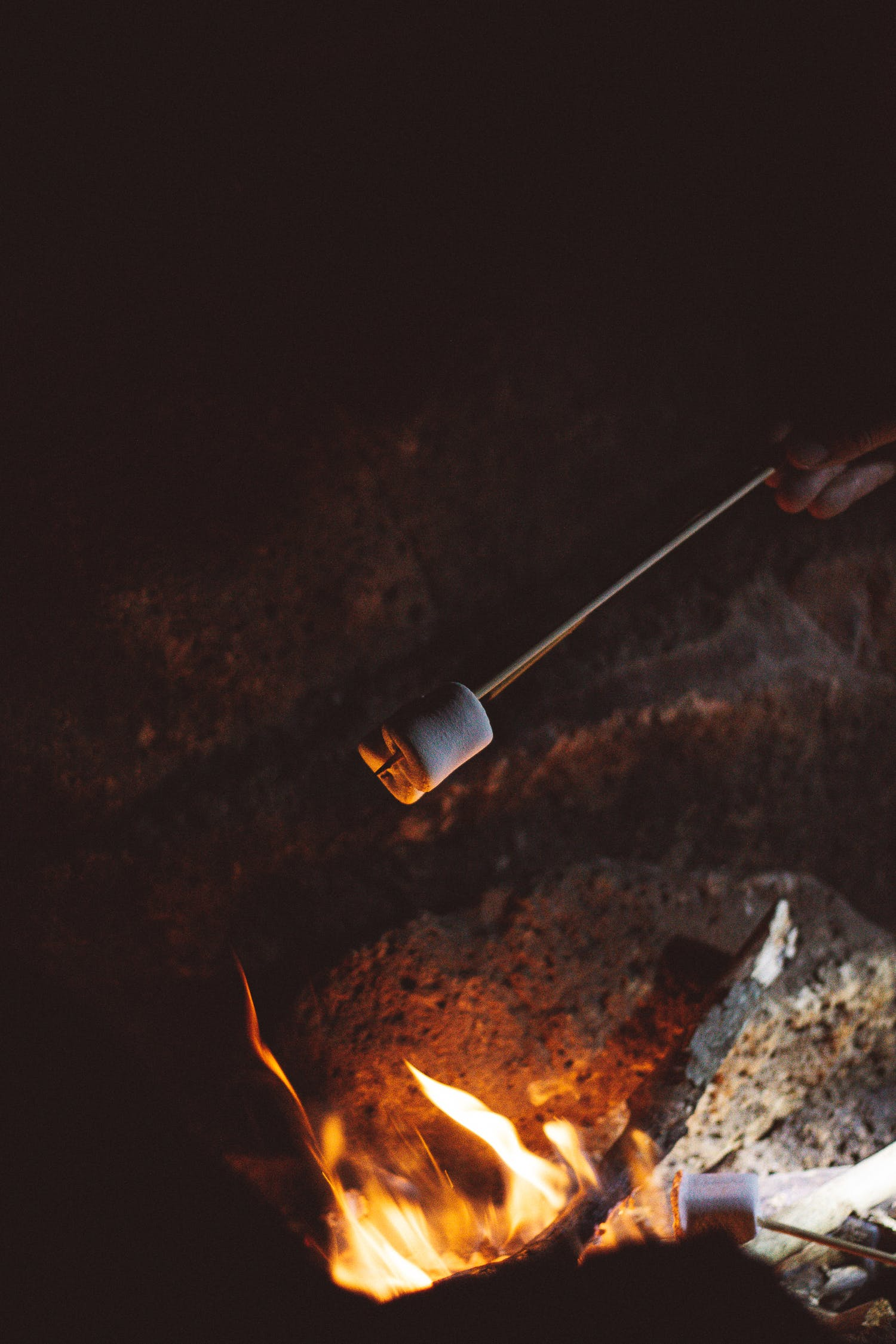 Marshmallow Grilled on Fire
