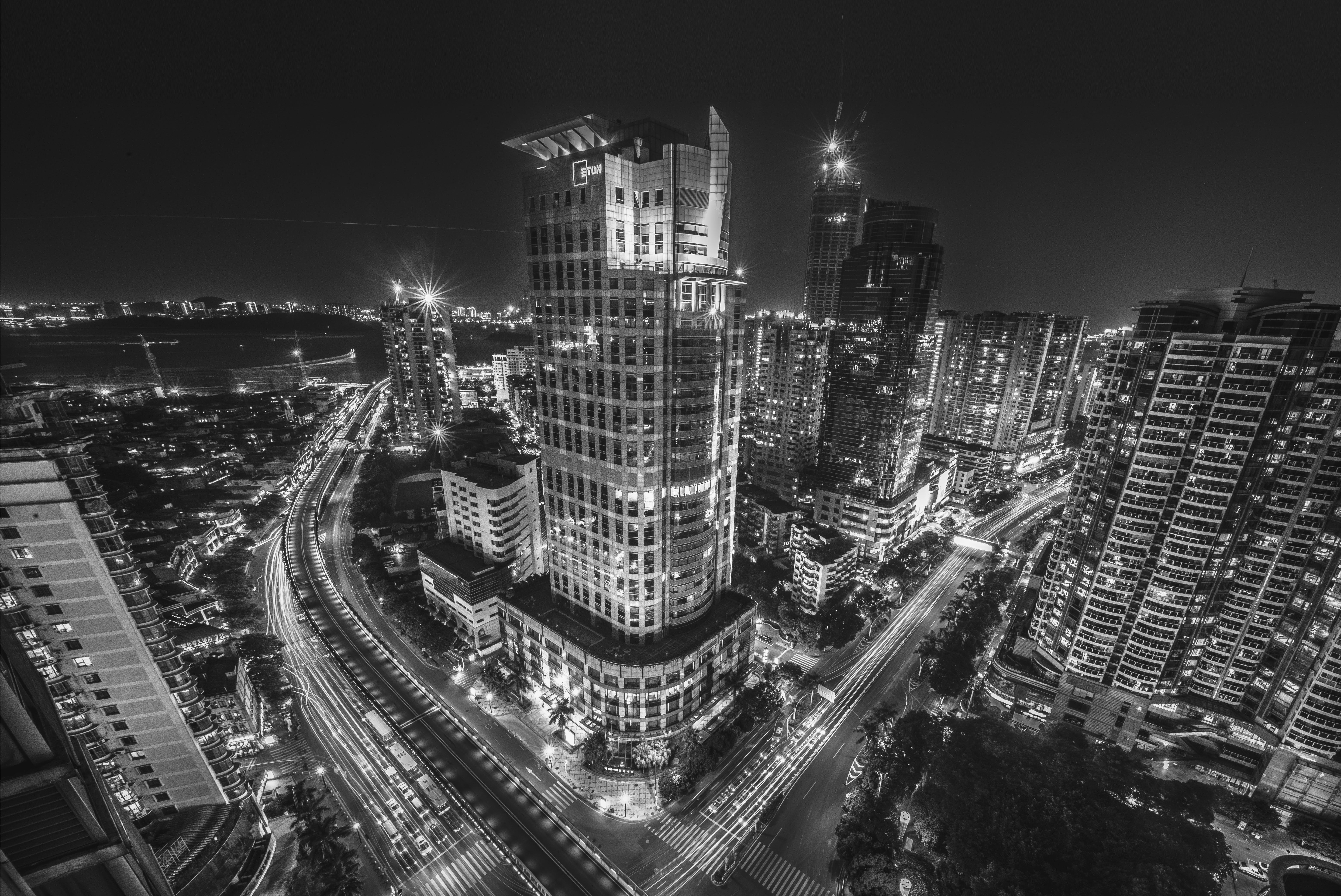 architectuur, binnenstad, bouwkunde