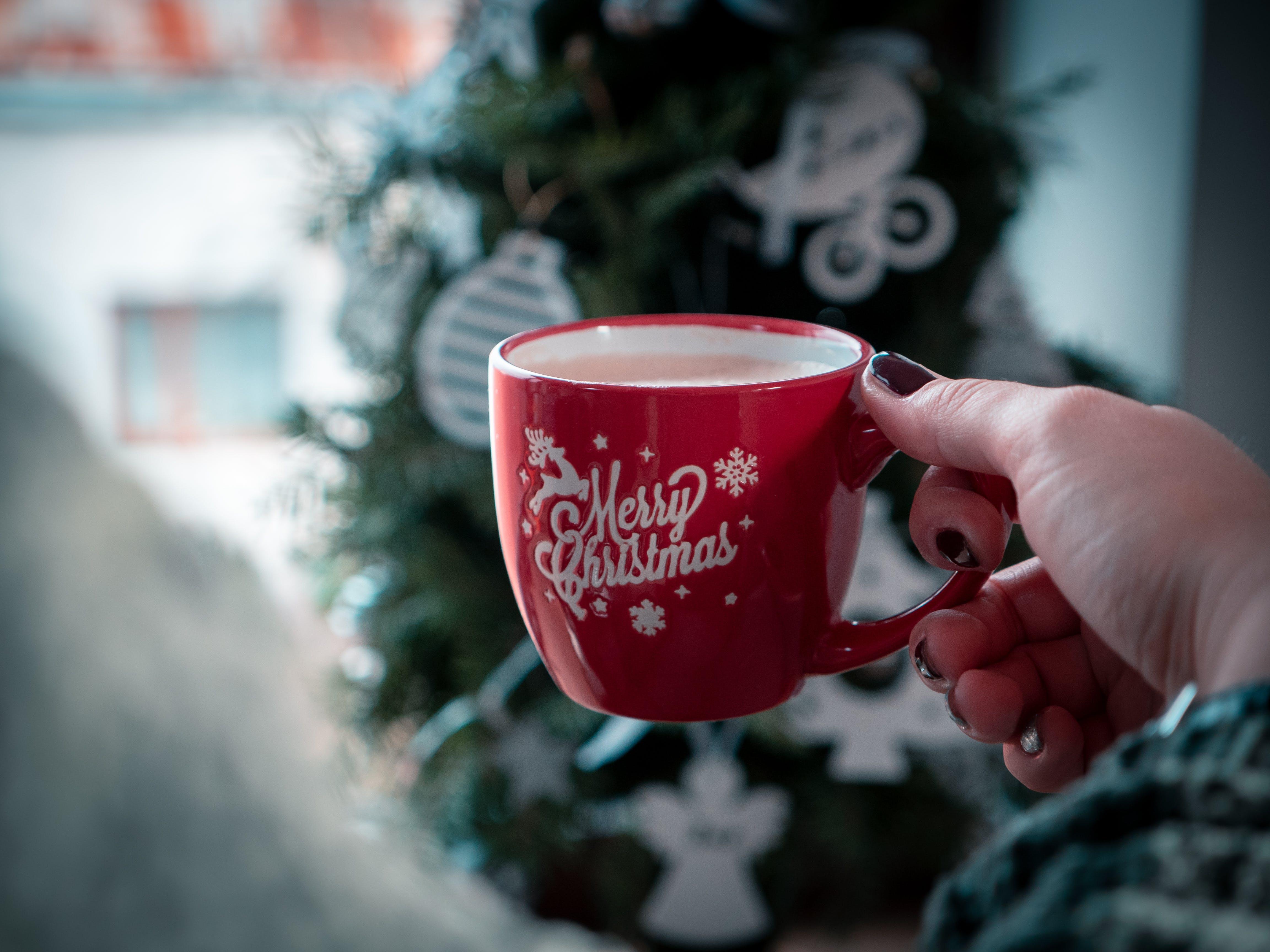 Red Merry Christmas-printed Mug