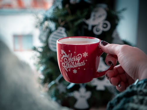 Red Merry Christmas-printed Mug