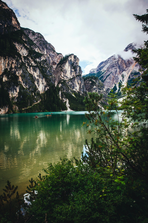 Kostenloses Stock Foto zu alpen, bäume, berge, bewölkt