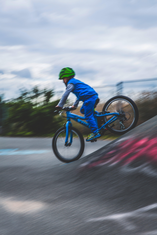 action, asphalt, biker