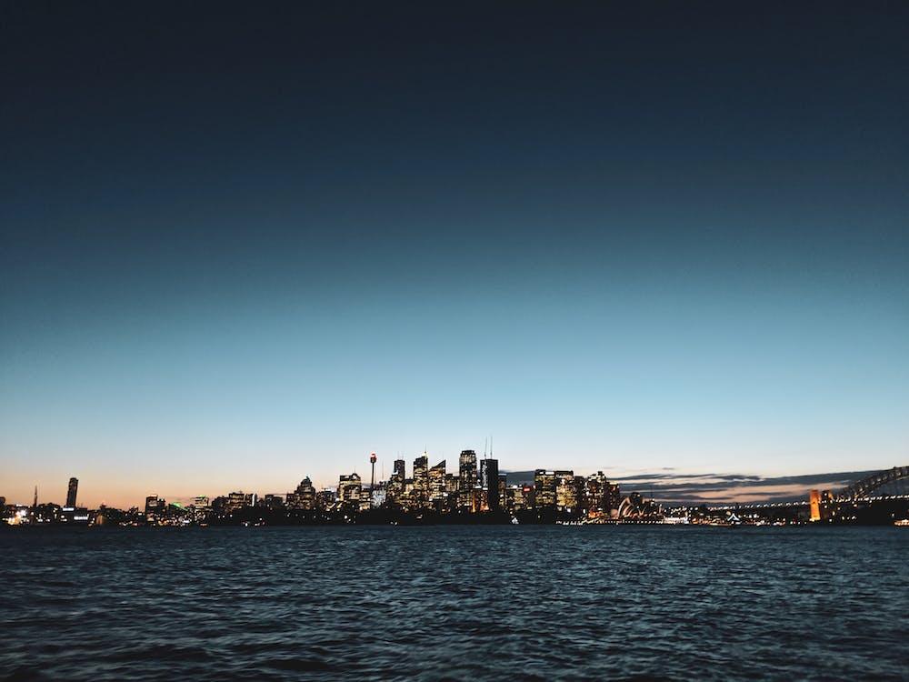australien, gebäude, meer