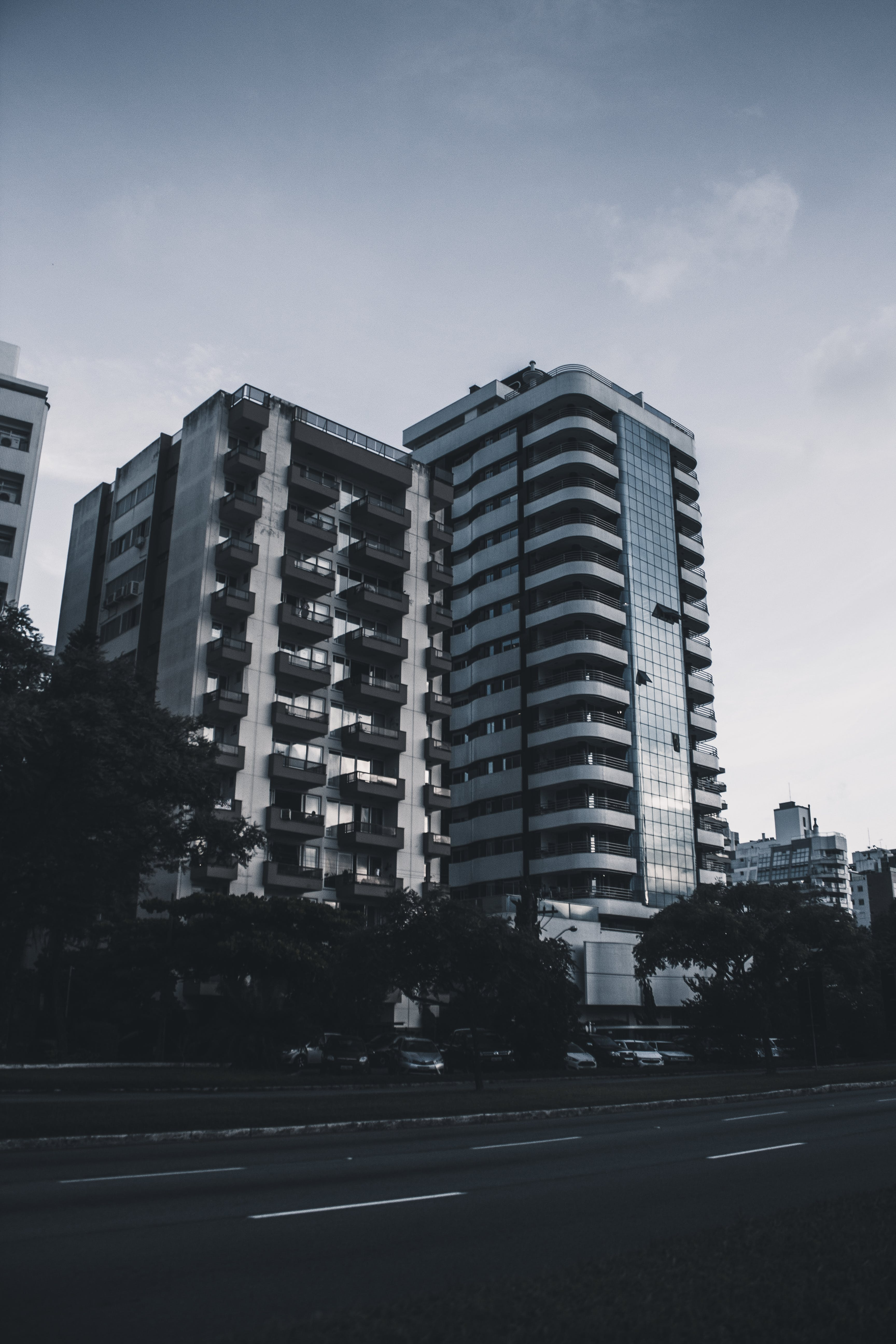 Grayscale Photography of High-rise Building