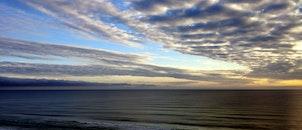 sea, dawn, beach