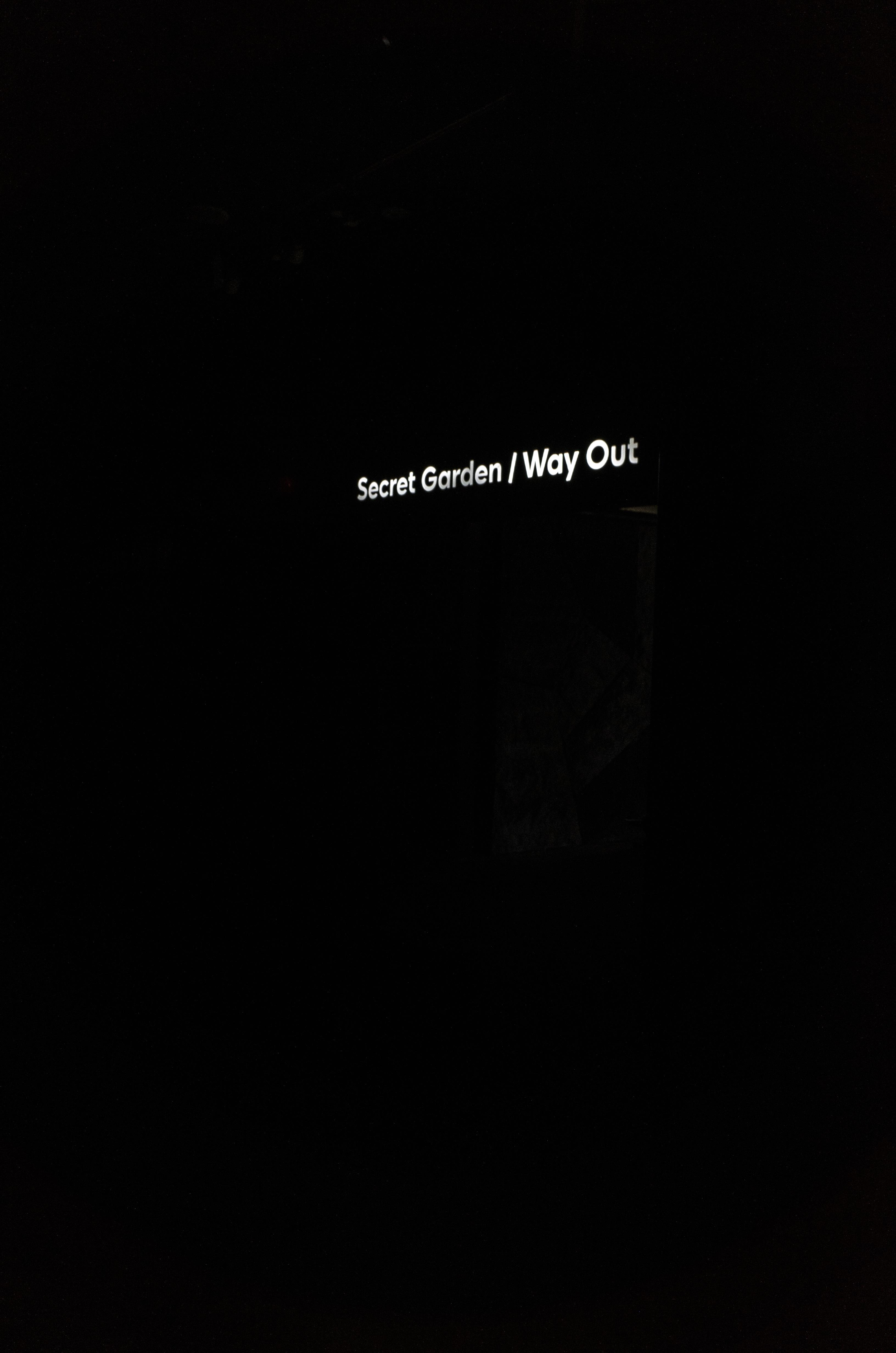secret garden/way out