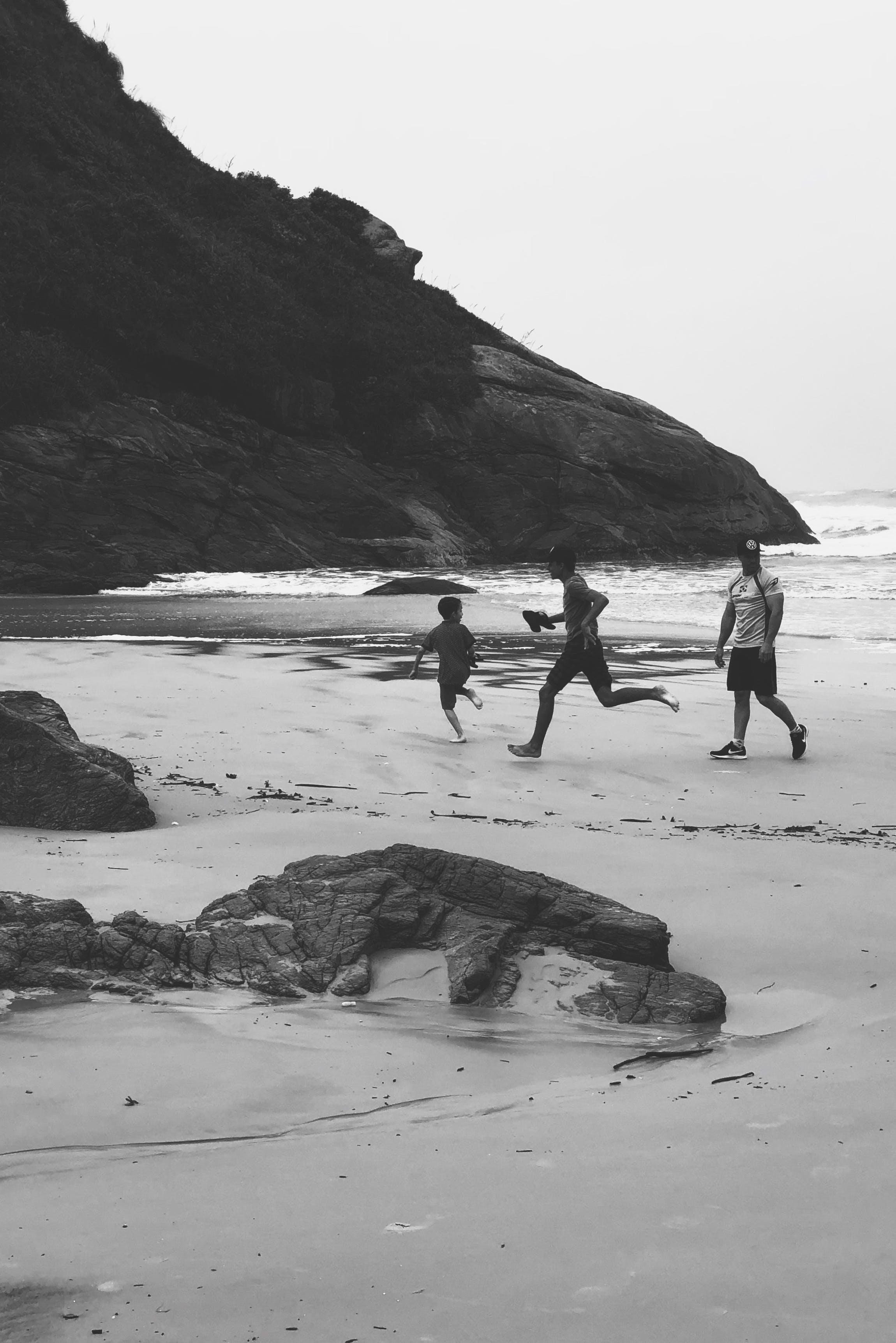 Three People on Shore