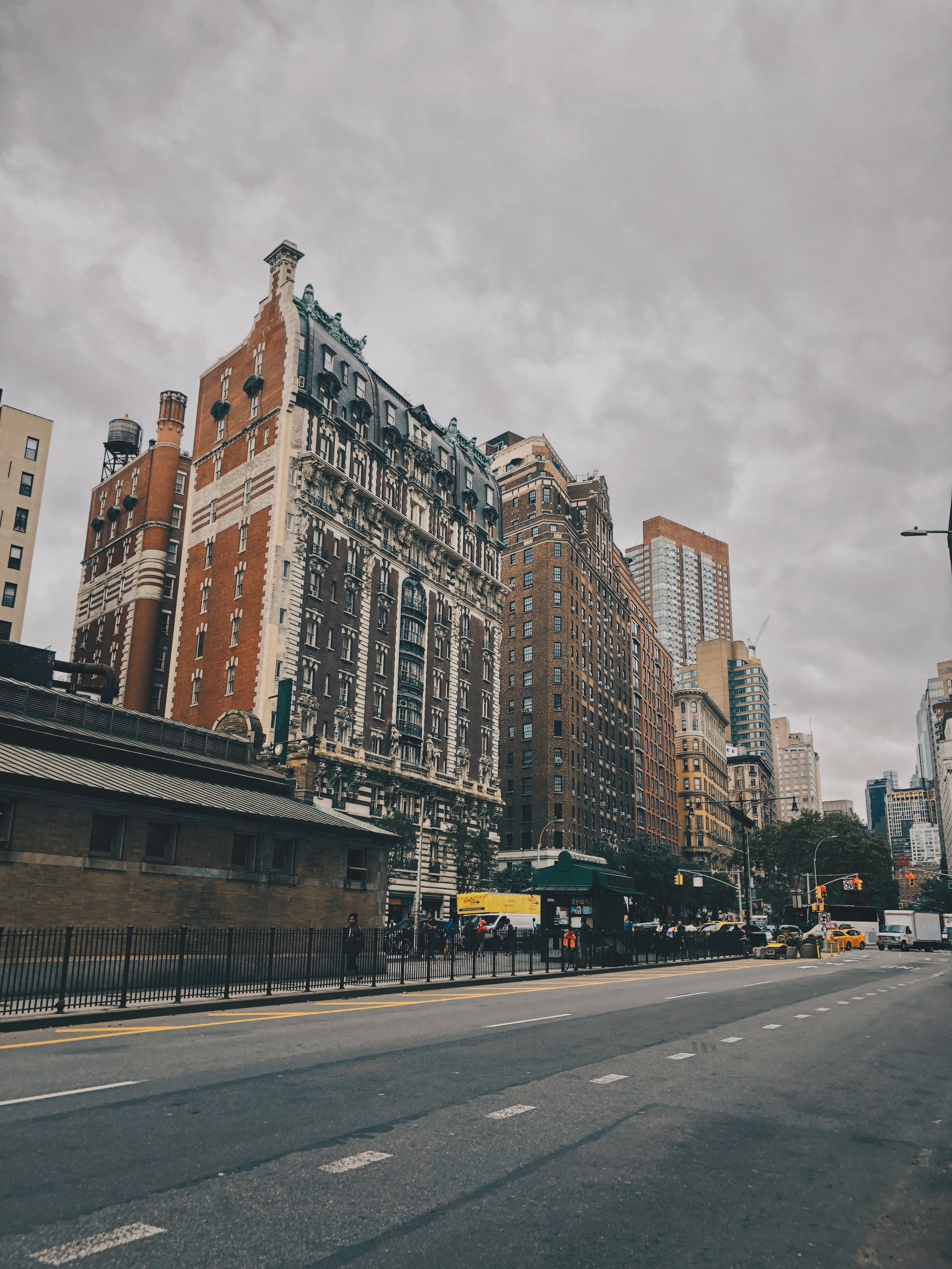 Photo of Tall Buildings Near Road