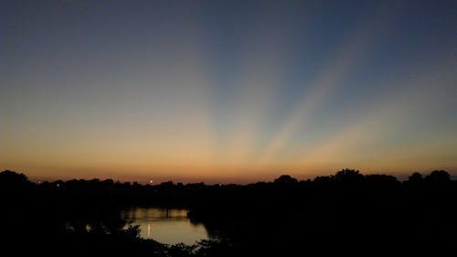 Photos gratuites de bleu, ciel, coucher de soleil, orange