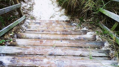 Photos gratuites de bois, escalier, marches, plage