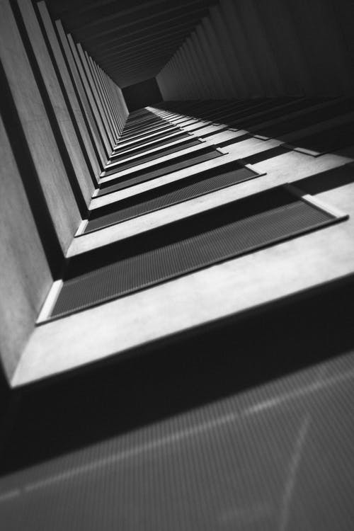 Free stock photo of architectural design, architecture, black-and-white, bright