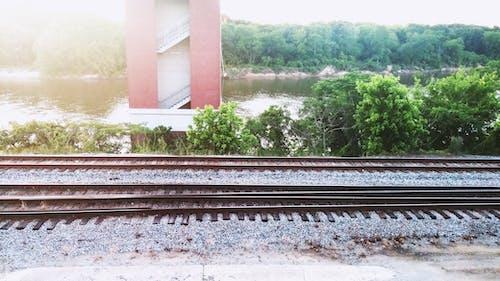 Photos gratuites de banque, rail, rails