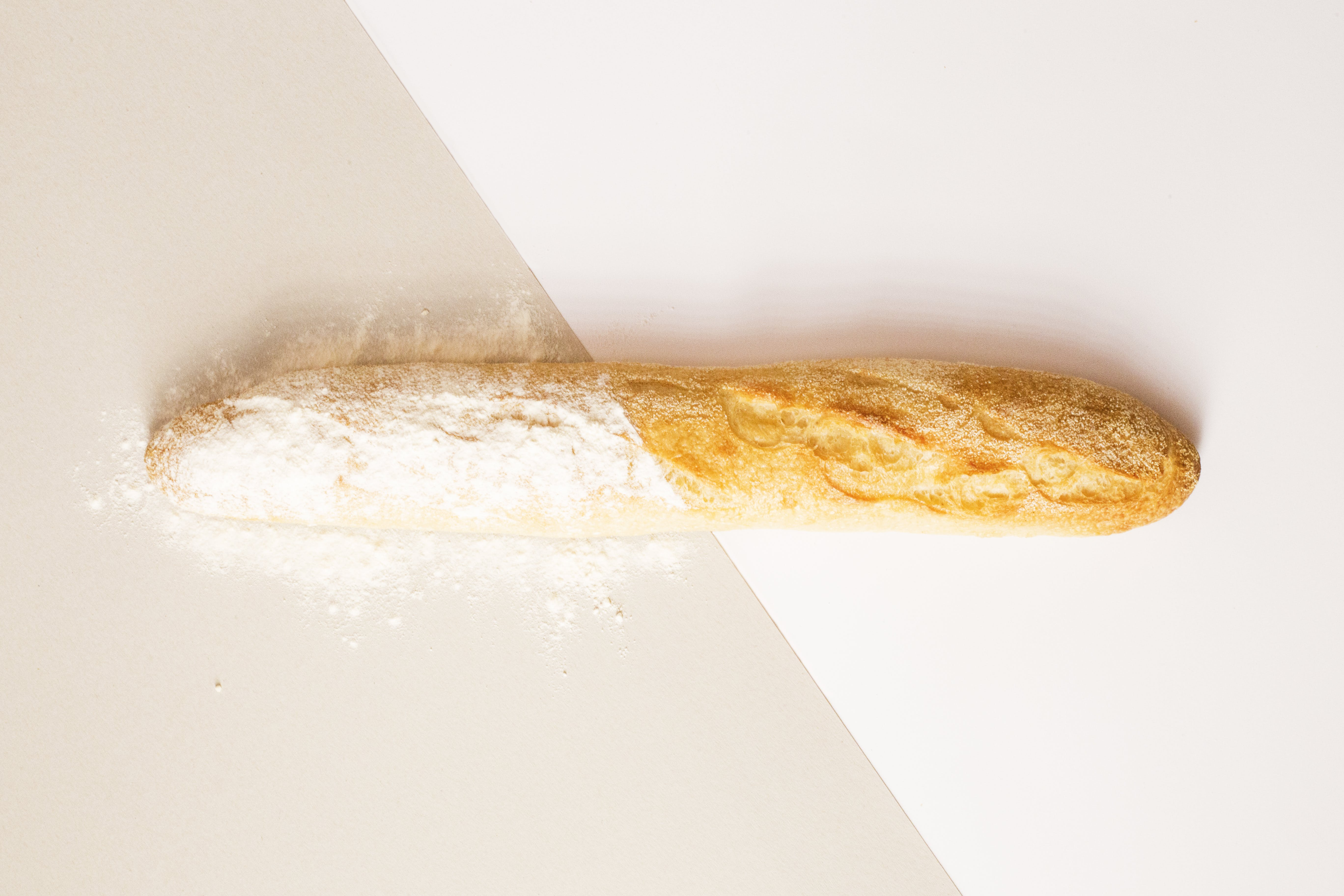 Baguette on White Surface