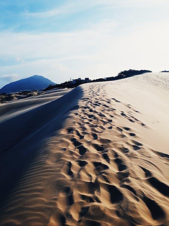 Foot Prints on Desert