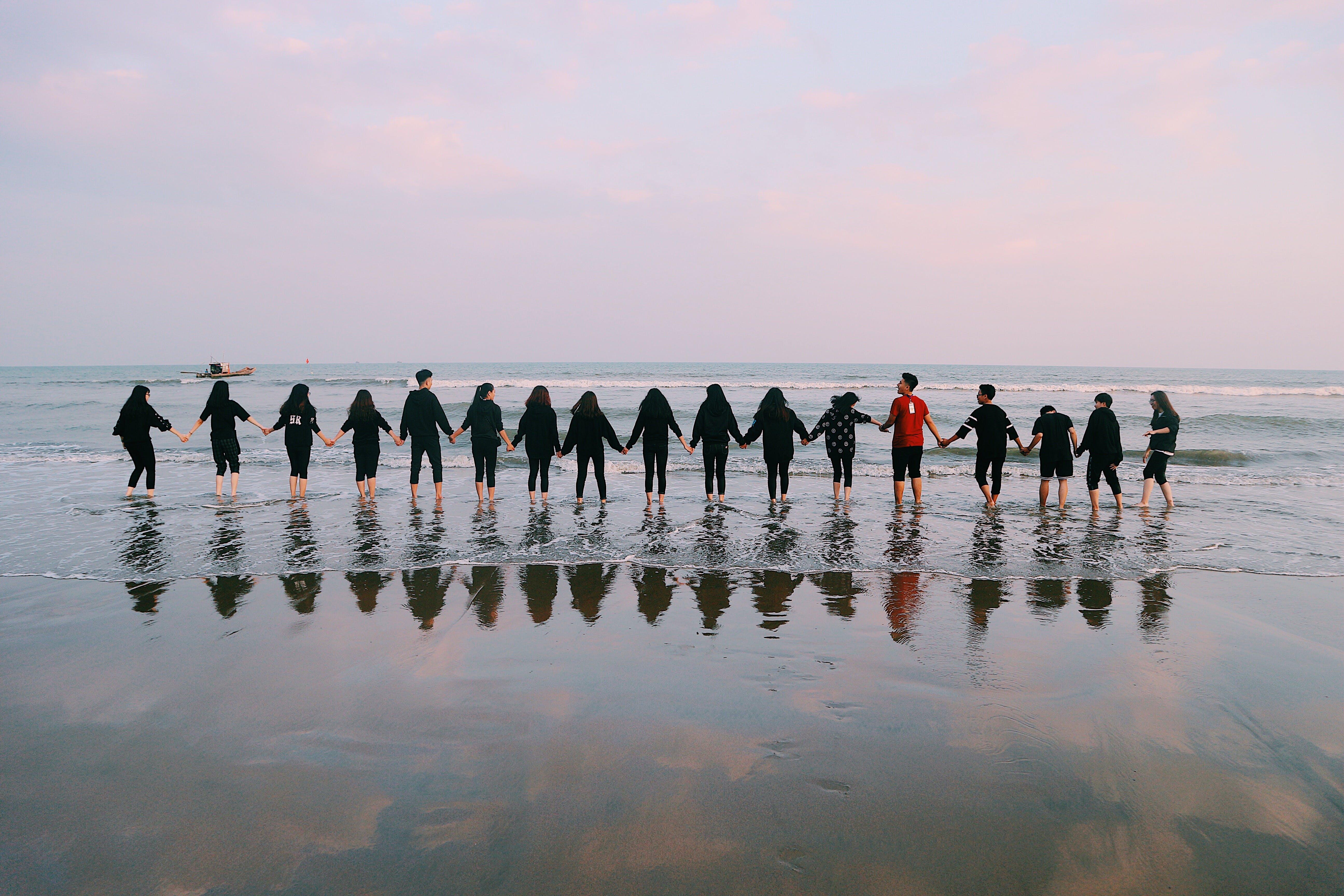 Ingyenes stockfotó csapat, emberek, óceán, összetartozás témában