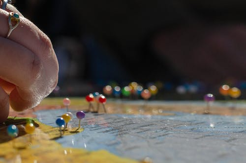 Free stock photo of map