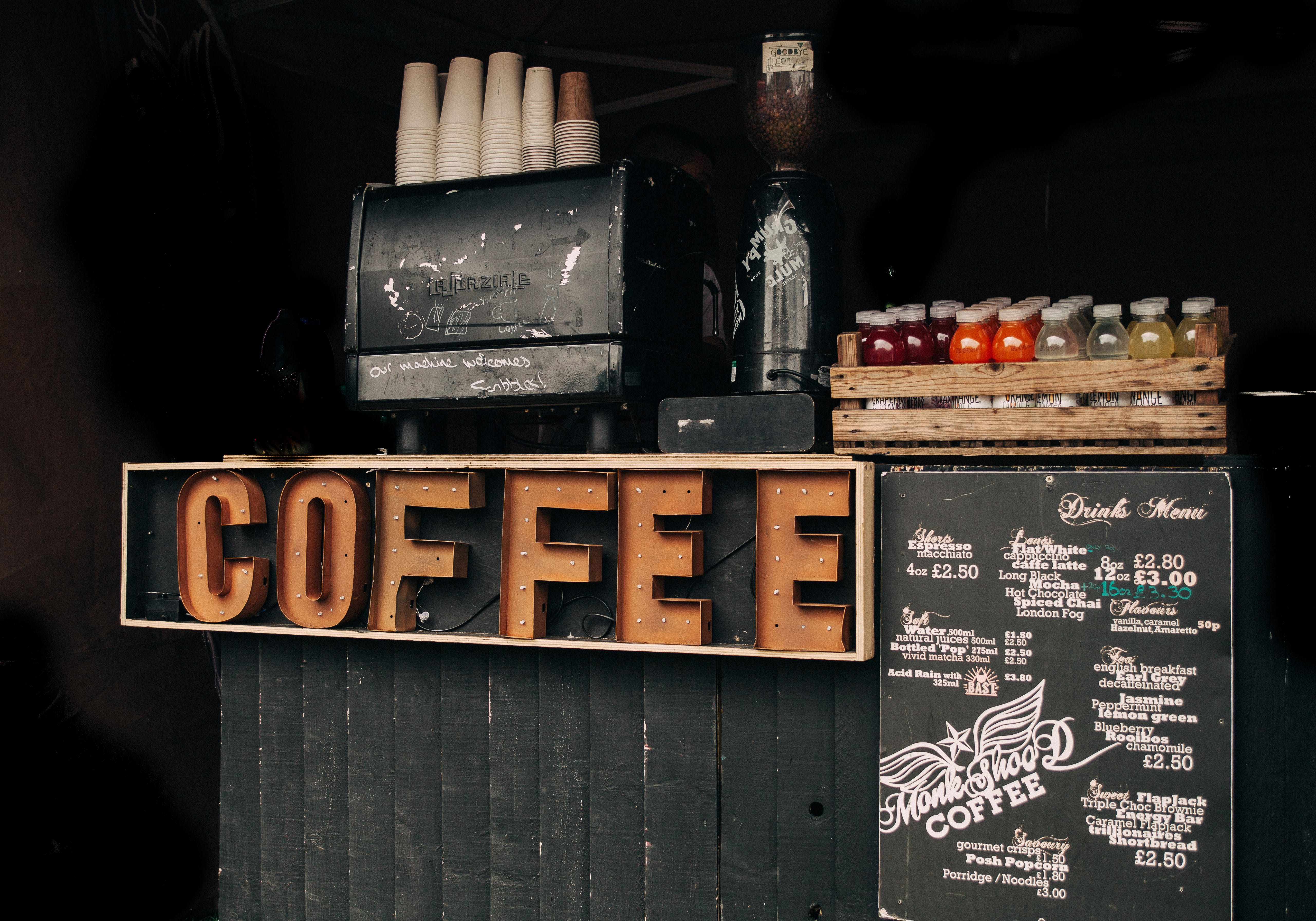 Coffee Brown Signage