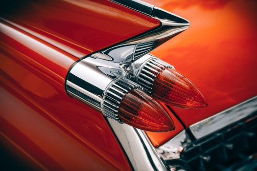 Silver and Red Vintage Tail Lights