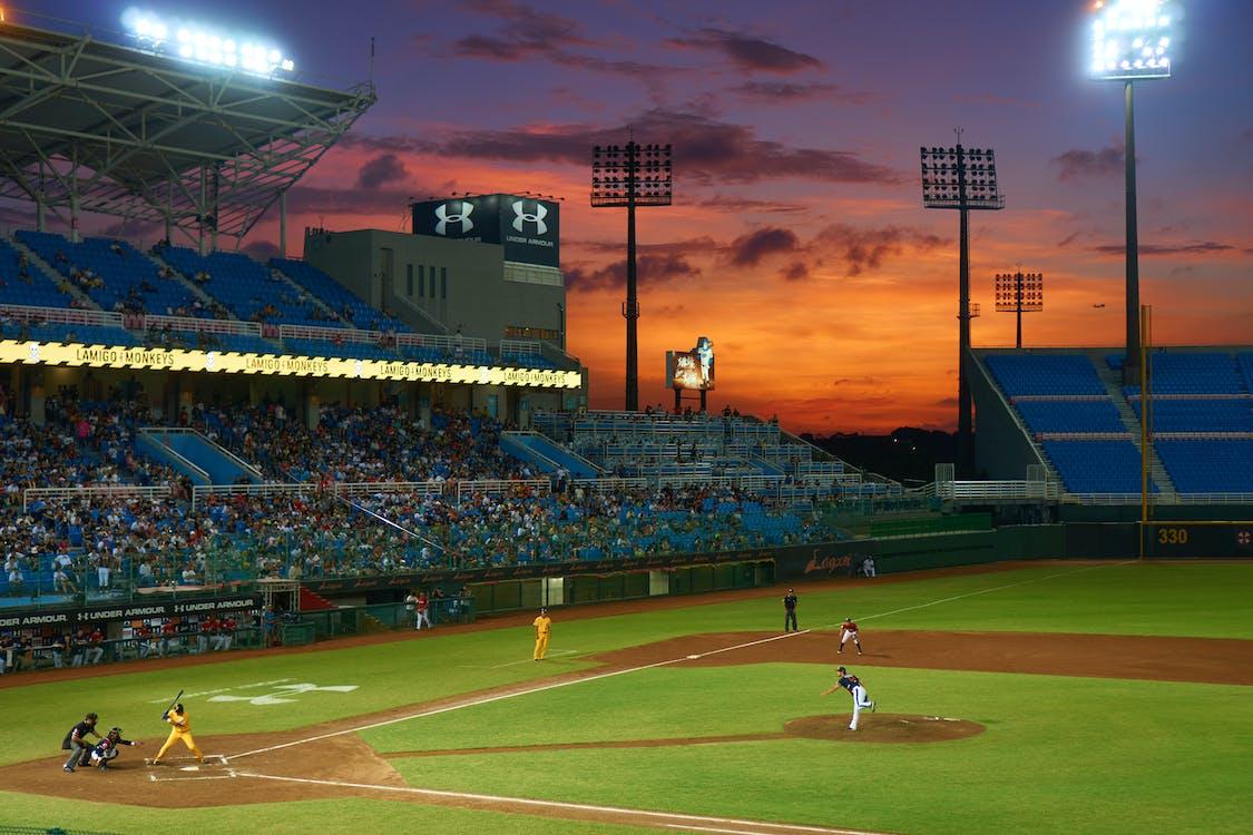 asu, auringonlasku, baseball