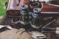vintage, binoculars, old