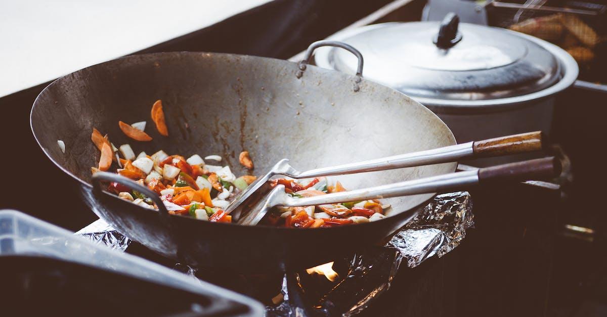 Vegetables Sauteed on Wok