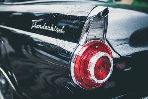 Black Thunderbird Car