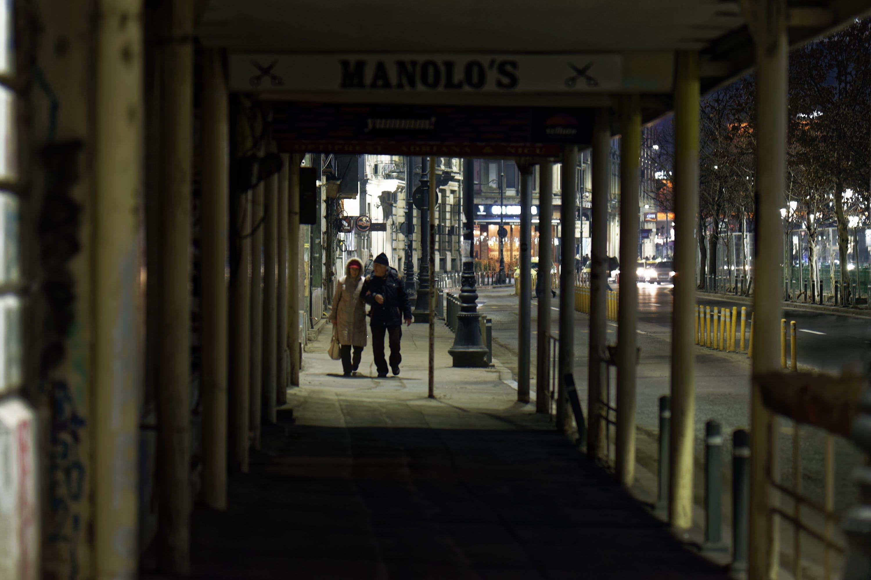 Free stock photo of buildings, couple walking, evening, night