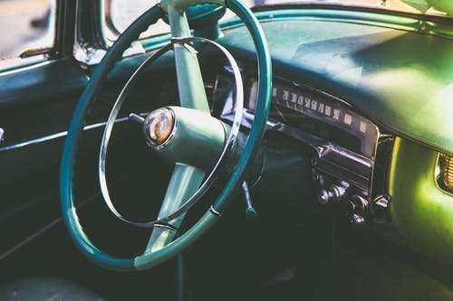 Blue Car Steering Wheel