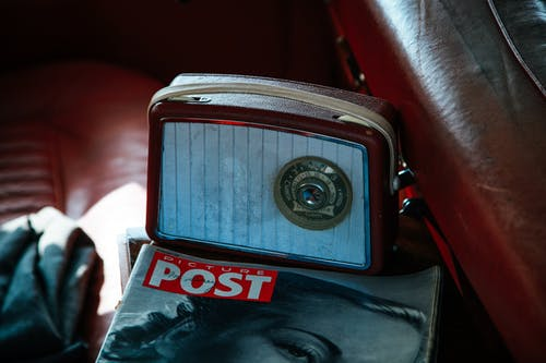 Gray and Brown Camera Beside Picture Post Magazine