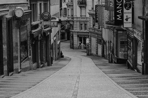 Free stock photo of black and white, city, downtown, Suisse