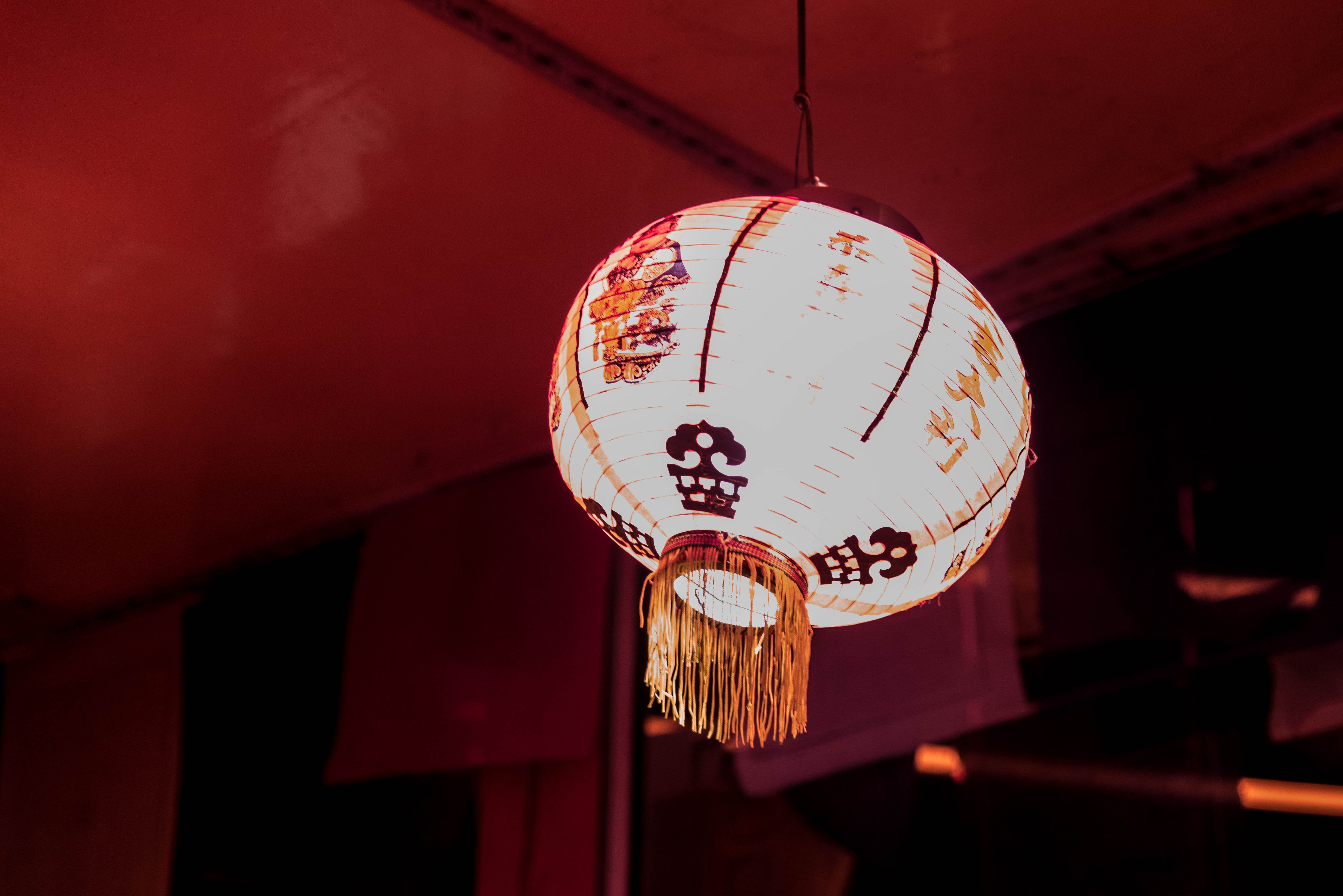 Free stock photo of Chinese, decor, light, red lantern