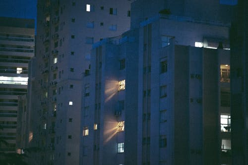 Free stock photo of apartment building, light