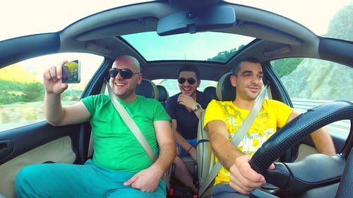 Free stock photo of driving, friends, gopro, handsome