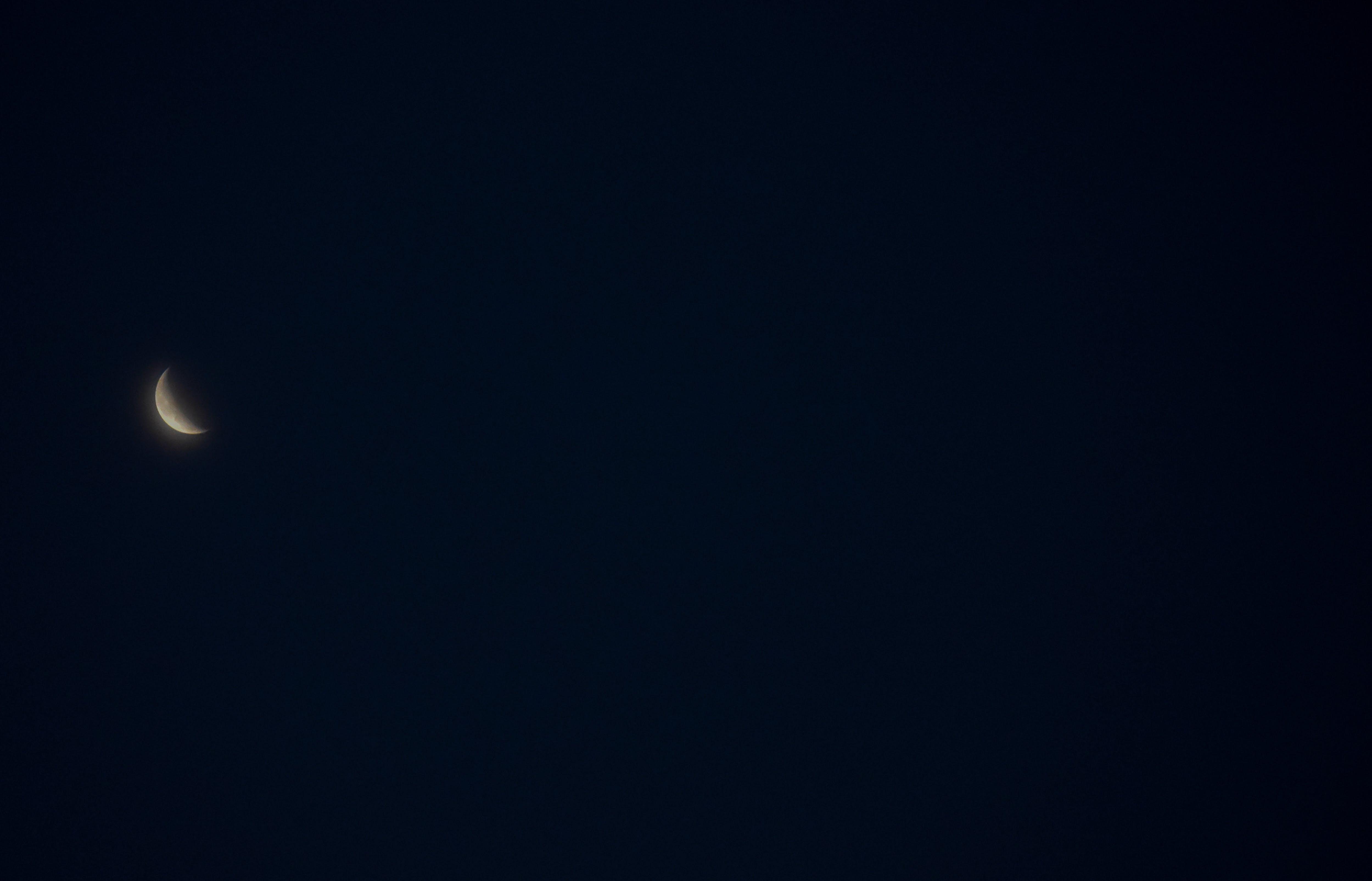 Gratis lagerfoto af Halvmåne, himmel, måne, nat